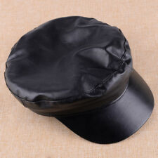 PU Leather Baseball Beret Cap Men's Hat Driving Military Golf Women's Cabbie