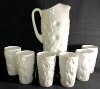 Bryce Milk Glass El Rancho 7 Piece Water Set