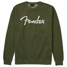 Fender Spaghetti Logo Pullover, Army Green, M
