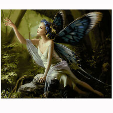 "16X20"" Butterfly Fairy Paint By Numbers Kits Digital Acrylic DIY Canvas Painting"
