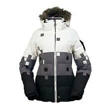 NWT~ WOMEN'S XS BURTON GUARDIAN DOWN JACKET White Grey Black extra small