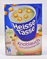 Erasco Heisse Tasse 3 Beutel  Französische Knoblauch Suppe