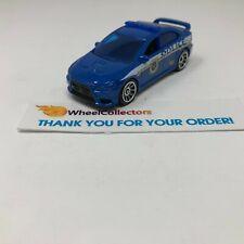 Mitsubishi Lancer Evolution X Police * Blue * Matchbox LOOSE * F406