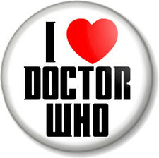 I Love / Heart Doctor Who 25mm Pin Button Badge Sci-Fi TV Series BBC Tardis