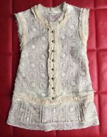 Marc Jacobs Sleeveless Blouse Size 4 6 8 Silk Ivory Lace VINTAGE Runway