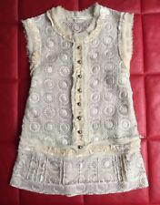 Blouse Top Silk Ivory Size 4 6 8 M Sleeveless Lace VINTAGE Marc Jacobs Runway