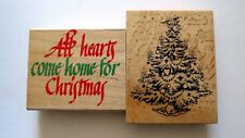 O Christmas Tree PSX 1992  All Hearts Come Home For Christmas Rubber Stamps
