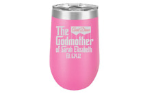 Godmother Gift, 16 oz. Stemless Wine Tumbler, Godmother Proposal Personalized