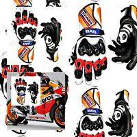 UK 2017 NEW Honda Repsol Motorbike Racing Leather Gloves Available  MotoGP PRO