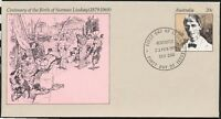 1979 NORMAN LINDSAY PRE-STAMPED ENVELOPE CANCELLED FIRST DAY OF ISSUE