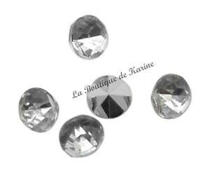 Lot 100 Rhinestone Glitter to Stick Clear 2 MM - Jewelry Creation Beads AA3
