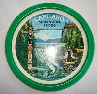 Vintage Capilano Suspension Bridge Metal Tray Souvenir Vancouver Canada Totem