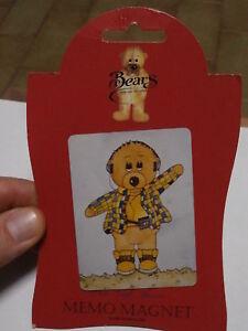 Rare Refrigerator Magnet Sarah Jane Bears Collection Magnet Fridge Rare