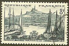 "FRANCE TIMBRE STAMP N°1037 ""MARSEILLE, VIEUX PORT"" OBLITERE TB"