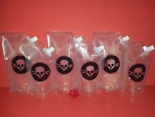 PoisonPack Plastic Flask 6 multi size  Cruises, Runners, Rum, Events, Concerts