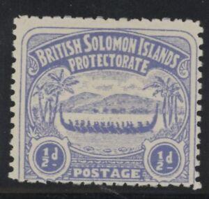British Solomon Islands Edward VII 1/2d ultramarine stamp (SG1) dated 1907 mint