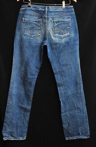 Amazing Women's Diesel Industry Cotton Blue Jeans Orange Embroidery W31  L34