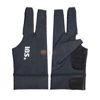 2pcs[IBS] Billiards Three Fingers Glove Professional  Spandex Snooker Pool Black