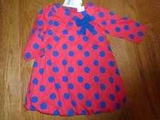BNWT BABY GIRL manica lunga vestito. Miniclub@Boots. 6-9 mesi. prezzo consigliato £ 12