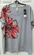 BNWT Ladies Loose Fit Printed TShirt size 22