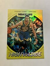 2019-20 Steph Curry NBA Hoops High Voltage Stephen Holo Warriors PSA BGS