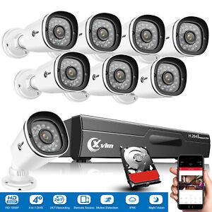 XVIM 8CH 1080P Outdoor Security Camera System Surveillance IP CCTV DVR 1/2TB HDD