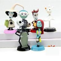 6pcs Nightmare Before Christmas Barrel Jack Bobble Head Figures Doll Toy Set