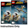 NEW INSTRUCTIONS ONLY LEGO WONDER WOMAN WARRIOR BATTLE 76075 books from set