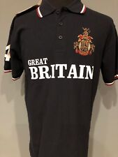 lansdowne the great british collection polo shirt size M navy crest embroidered