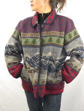 Sonoma Jean Co. Wool Blend Cardigan Sweater Mountain Alps  Women's Large NYZ10