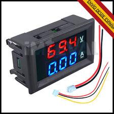 Voltimetro Amperimetro 100V 10A Digital DC con display Rojo Azul voltmeter M0068