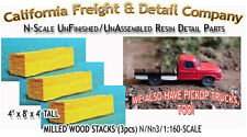 Milled Wood Lumber Stacks-3pcs N/1:160-Scale Craftsman CAL Freight & Details Co