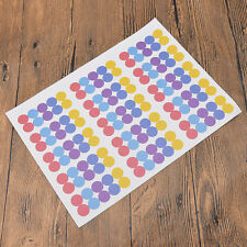 150pcs Waterproof Essential Oil Color Coded Bottle Cap Stickers Labels Round