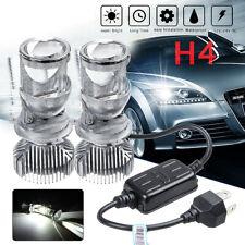 1 Pair H4 Bi-LED Mini Projector Lens Bulbs Headlight Kit Hi/Lo 6000K White E11