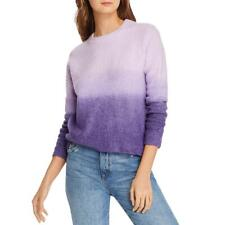 Aqua Womens Ombre Crew Neck Pullover Sweater Top BHFO 3470
