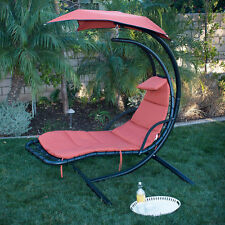 NEW Swing Hammock Chair Canopy Hanging Chaise Lounger Chair Arc Stand Air Porch