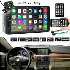 7 Inch Double 2 Din Screen Car MP5 Player Bluetooth Stereo FM Radio+Camera TFT