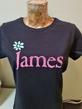 More details for ladies james tim booth the band '90 style tee t shirt retro madchester black