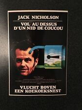 French Postcard Movie Poster Jack Nicholson Vol au Dessus d'un Nid de Coucou