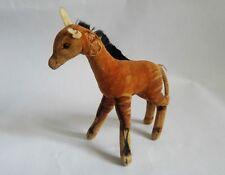 """(T) Vintage 1950s Steiff Okapi Antelope, velvet, """"injured"""", 6"""" / 15 cm"""