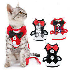 More details for (h040) kitten cat small dog adjustable mesh harness & lead tuxedo style