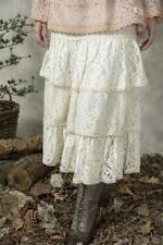 Jeanne D Arc Living Rock Spitze Spitzenrock XL - XXL creme Stufenrock Vintage