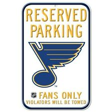 "ST. LOUIS BLUES RESERVED PARKING FANS ONLY SIGN 11""X17"" DURABLE POSTER"