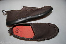 42458c22980 Mens Casual Shoes CHOCOLATE BROWN CANVAS SLIP ON Lt Weight BOAT DECK Size 7