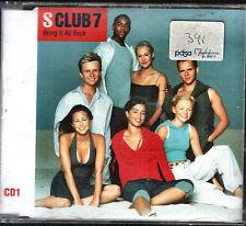 S Club 7 'Bring It All Back' CD Single In Slimline Jewel Case