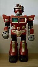 "Hap-P-Kid Turbo Fighter- 15"" Cybotronix Talking Toy Robot 2005 Lights up walks"