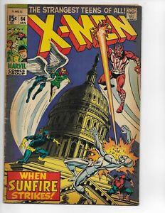 X-MEN #64 1ST APPEARANCE SUNFIRE KEY MARVEL COMIC