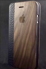 iPhone 6/6s Walnut Wood Flip Case Cover Kick Stand 100% Wood✅100% Leather✅