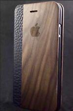 IPhone 6/6s en bois de noyer Flip Case Cover Kick Stand 100% Bois ✅ 100% cuir ✅