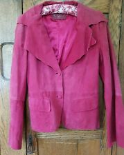 pink  suede jacket 14 olly & co formals boho